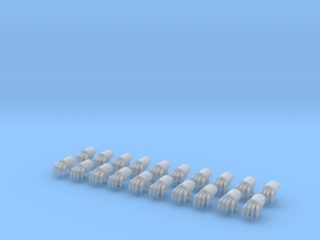10 28mm Power Fist Sets in Smooth Fine Detail Plastic