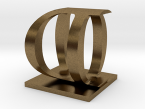 Two way letter / initial O&D in Natural Bronze