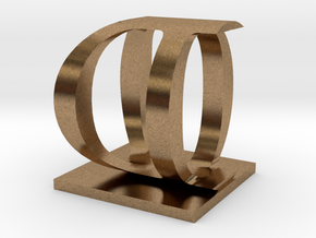 Two way letter / initial O&D in Natural Brass
