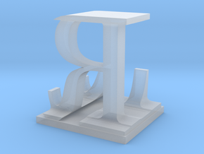 Two way letter / initial L&R in Smooth Fine Detail Plastic