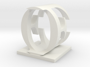 Two way letter / initial E&O in White Natural Versatile Plastic