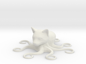 Octocat, solid in White Natural Versatile Plastic