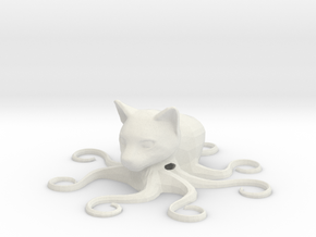 Octocat, hollow in White Natural Versatile Plastic
