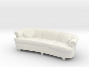 1:24 Curved Sofa in White Natural Versatile Plastic