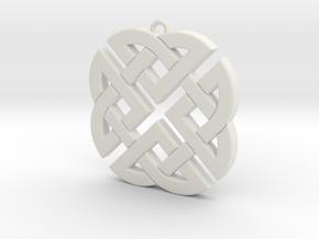 Celtic Knot 1 in White Natural Versatile Plastic