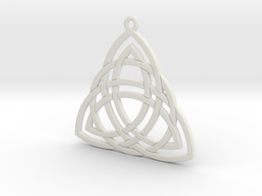Triquetra small in White Natural Versatile Plastic