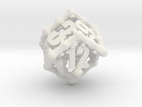 Tentacular D12 in White Natural Versatile Plastic