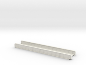 STRAIGHT 165mm SINGLE TRACK VIADUCT in White Natural Versatile Plastic
