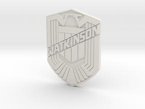 Watkinson Badge in White Natural Versatile Plastic