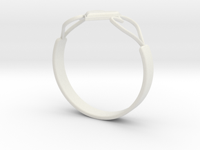 Heart Ring without Text in White Natural Versatile Plastic