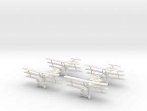 1/144 Sopwith Triplane (x4) in White Natural Versatile Plastic