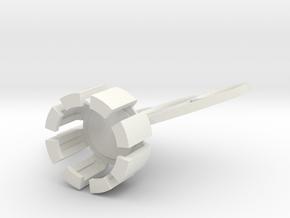 Knuckle_Cap in White Natural Versatile Plastic