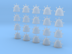 Apex Gods - 20, 28mm Shoulder Pads in Smooth Fine Detail Plastic