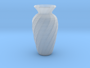 Twisted Vase in Smooth Fine Detail Plastic