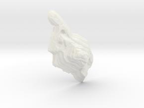 Mine pit, 40cm, monochrome in White Natural Versatile Plastic