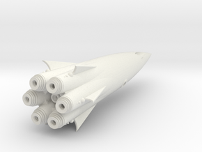 """Cohete"" Class SpaceShip Heavy Armed. in White Natural Versatile Plastic"