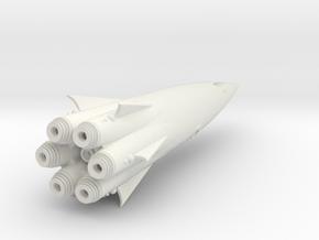 """Cohete"" Class SpaceShip Heavy Armed. in White Natural Versatile Plastic"