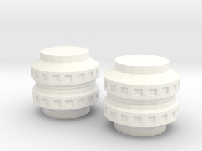Space Station Segments in White Processed Versatile Plastic