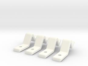 Door Clip Set  (Sliding Doors) - Most Scales in White Processed Versatile Plastic