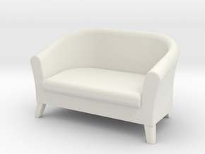 1:24 Club Sofa in White Strong & Flexible