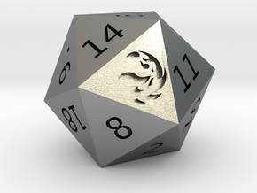Mountain D20 in Natural Silver