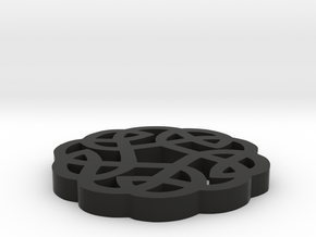 Celtic Round Knot in Black Strong & Flexible