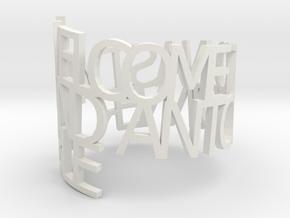Ring Poem Anton in White Natural Versatile Plastic