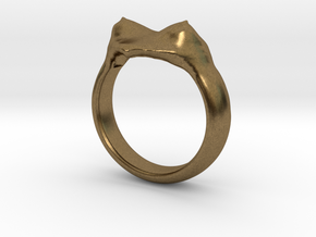 "heart ring ""Polena"" in Natural Bronze"