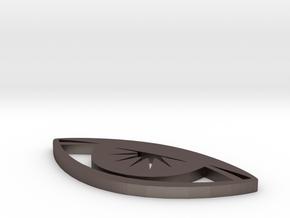 Eyerise Pendant (Medium) in Polished Bronzed Silver Steel