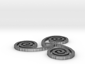 "Celtic Triple Spiral (2"") in Polished Silver"