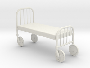 1:24 HospitalBed in White Natural Versatile Plastic