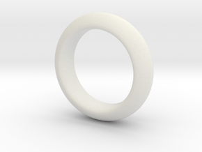 Sinoid Ring mm scale in White Natural Versatile Plastic