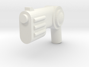 Minifig Gun 10 in White Strong & Flexible