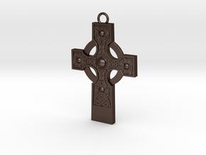 celtic cross 2 in Matte Bronze Steel