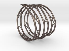 The Organic Bracelet in Polished Bronzed Silver Steel