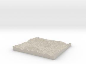Model of Telluride in Natural Sandstone