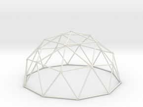 2V Dome - Large in White Natural Versatile Plastic