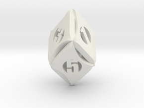 Flash-Rhombic d6 in White Natural Versatile Plastic