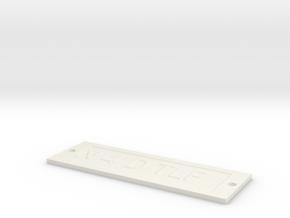 by kelecrea, engraved: N 4 D TLF in White Natural Versatile Plastic