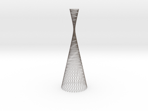 Light Forms | hyperboloid 36 twist 165 in Polished Bronzed Silver Steel