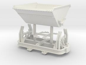Feldbahnkipplore ungebremst Spur 0f in White Natural Versatile Plastic