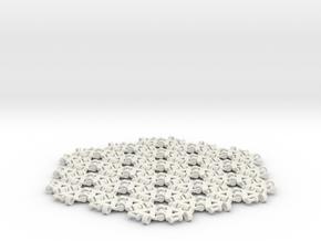 {3,6} radius 3 with boundary hinges in White Natural Versatile Plastic
