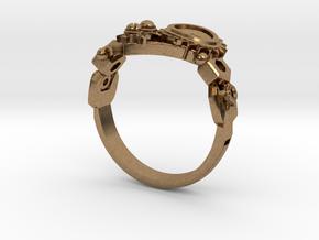 Mech Heart Ring in Natural Brass: 6 / 51.5