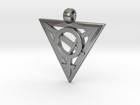 Transgender Warrior Pendant (large) in Natural Silver