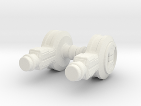 Servo Hips in White Natural Versatile Plastic