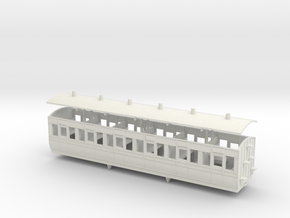 3mm scale LBER Third Class Coach print version in White Natural Versatile Plastic