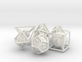 Frame Dice Pack in White Natural Versatile Plastic
