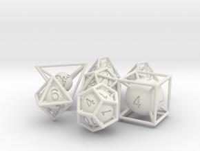 Frame Dice Pack in White Natural Versatile Plastic