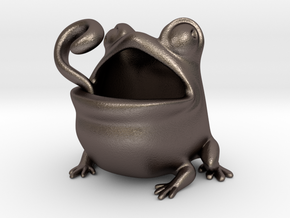 Toadicup in Polished Bronzed Silver Steel