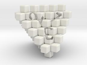8Bit D4 in White Natural Versatile Plastic